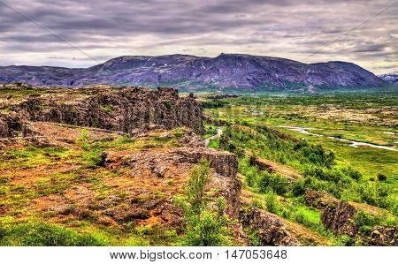 Fissures of the Mid-Atlantic Ridge in the Thingvellir National Park - Iceland