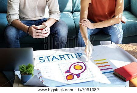 Startup Business Entrepreneurship Launch Concept