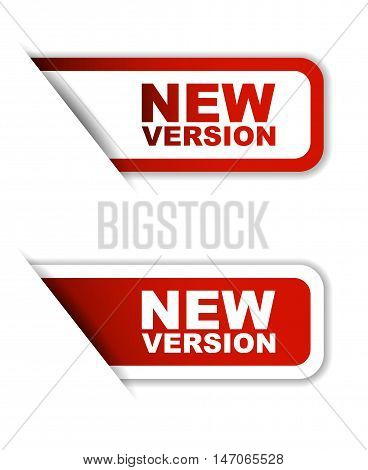 This is red set vector paper stickers new version