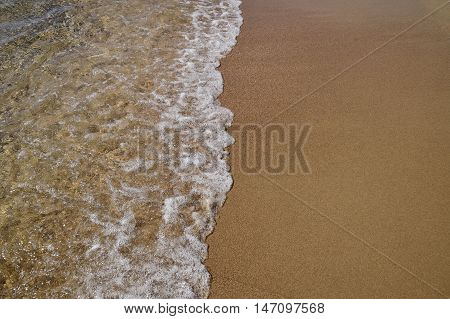 Waves Lapping On The Sandy Shore