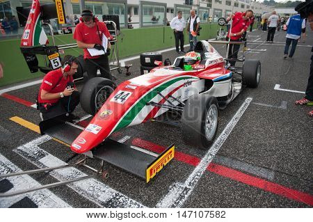 Vallelunga, Rome, Italy. September 10Th 2016. Formula 4 Championship, Car On Starting Line