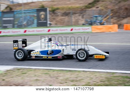 Vallelunga, Rome, Italy. September 10Th 2016. Formula 4 Championship, Marino Sato In Action