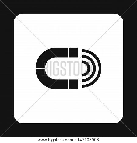 Magnet icon in simple style on a white background vector illustration
