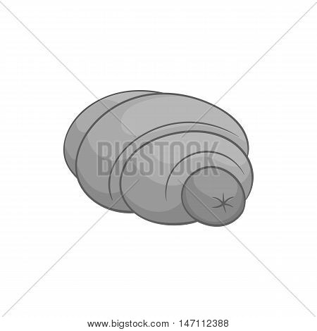Sausage in dough icon in black monochrome style isolated on white background. Food symbol vector illustration