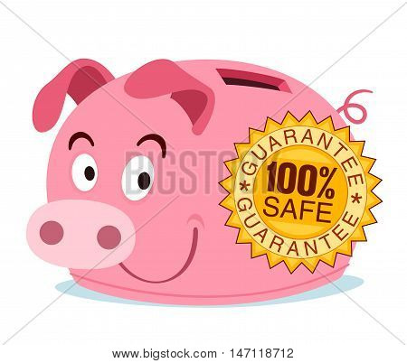 piggy bank get branded with safety guarantee stamp