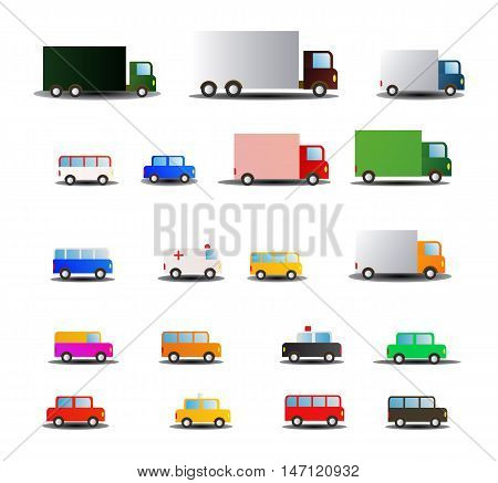 illustration of all kind of transportations vehicle