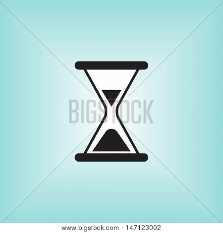 Hour glass vector icon. Hourglass isolated vector sign.