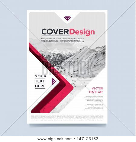 Brochure layout design vector illustration. Cover design for annual report or brochure. Booklet or flyer. Abstract presentation templates. Creative concept in bright colors.