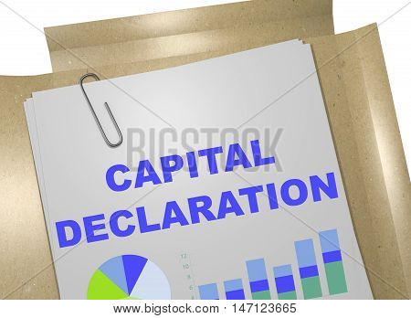 Capital Declaration Concept