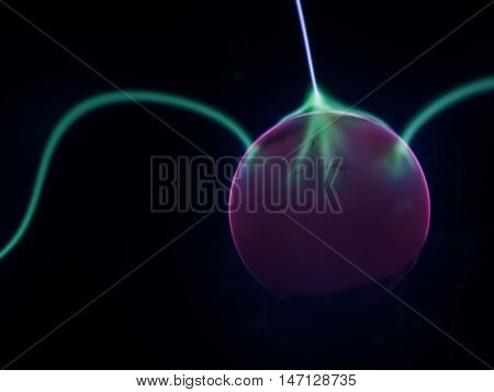 Magical ball with the electricity current display