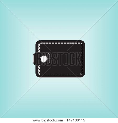 Wallet vector icon. Wallet isolated vector sign. Wallet business vector logo.