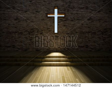 3D Modern Church Interior
