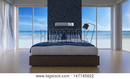 3D Seaview Bedroom
