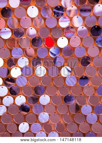 Sequins mirror abstract background. Paillette pattern