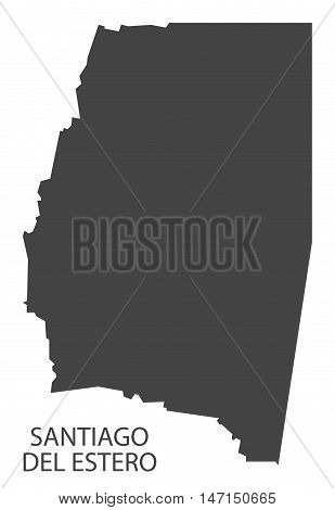 Santiago del Estero Argentina Map grey vector high res