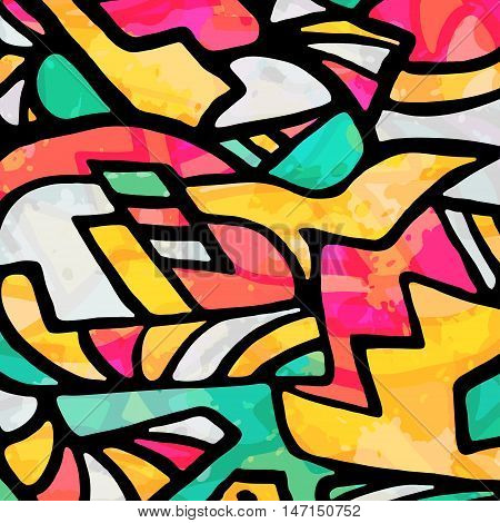 abstract geometric objects graffiti grunge effect vector illustration abstract high quality