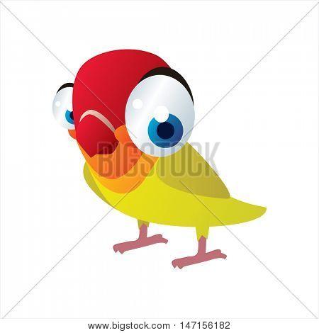 vector cartoon cute animals. Funny Lovebird