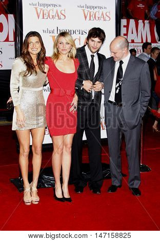 Lake Bell, Cameron Diaz, Ashton Kutcher and Rob Corddry at the World premiere of 'What Happens in Vegas' held at the Mann Village Theater in Westwood, USA on May 1, 2008.