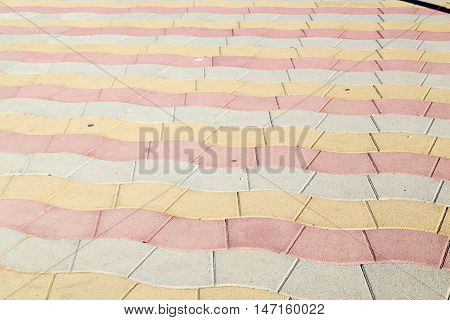 In Oman Abstract Pavement  Colors