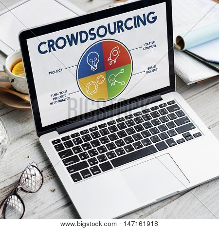 Crowdsourcing Business Concept