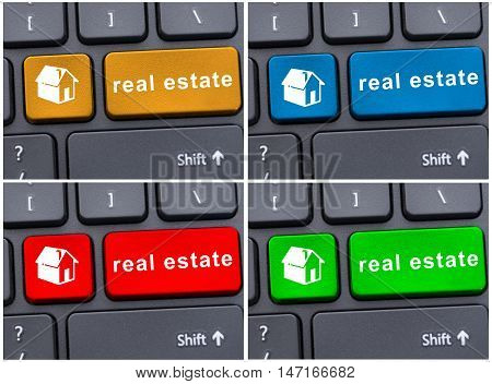 Keyboard With Real Estate Text