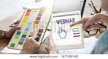 Webinar Links Seo Hand Cyberspace Concept