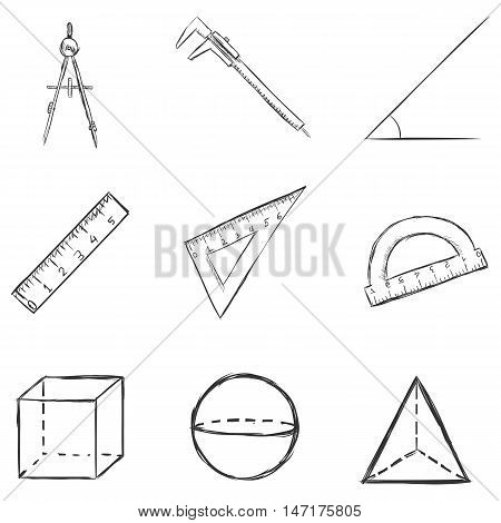 Vector Set Of  Sketch  Geometry  Icons