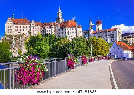 Beautiful places and castles of Germany - pictorial Sigmaringen