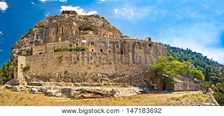 Pustinja Blaca stone desert hermitage on Brac island Dalmatia Croatia