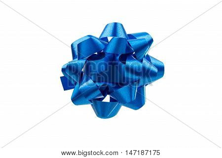 Present Bow decorating Isolated on White Background.