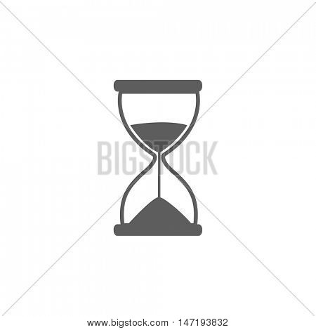 Hourglass icon illustration isolated on a white background