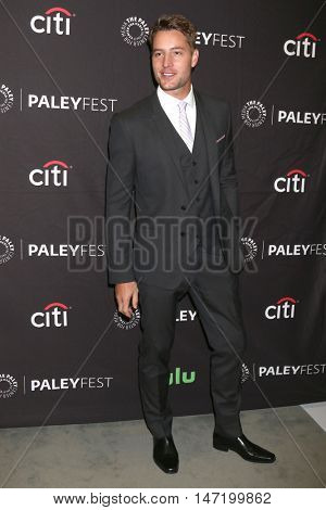 LOS ANGELES - SEP 13:  Justin Hartley at the PaleyFest 2016 Fall TV Preview - NBC at the Paley Center For Media on September 13, 2016 in Beverly Hills, CA