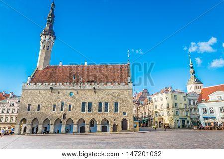 The old town hall of Tallinn Estonia