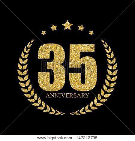 Template Logo 35 Years Anniversary Vector Illustration EPS10