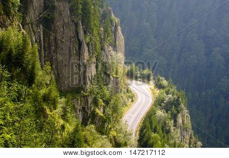 The Transfagarasan is a paved mountain road crossing the southern section of the Carpathian Mountains of Romania.