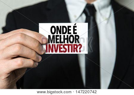 Where to Invest? (in Portuguese)