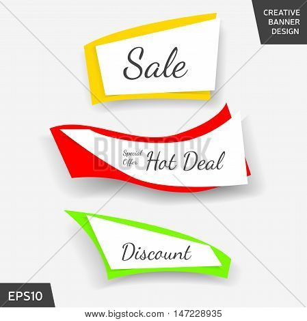 Set of colorful elements for promotion advertisement and other purposes. Website banner or sticker design. Vector illustration eps 10