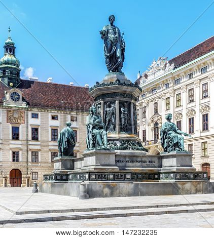 Monument To Emperor Franz I Of Austria In Hofburg. Vienna.