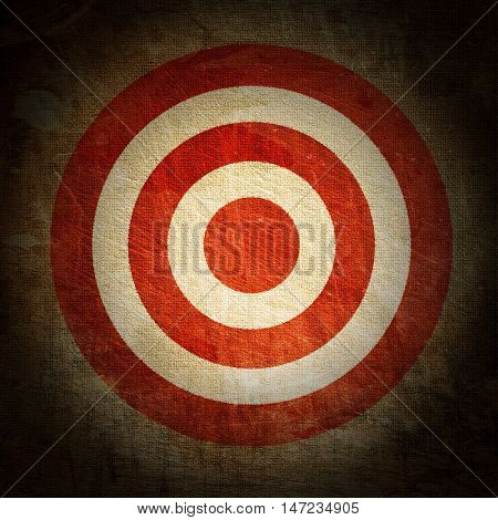 vintage target painted on the dirty old tissue