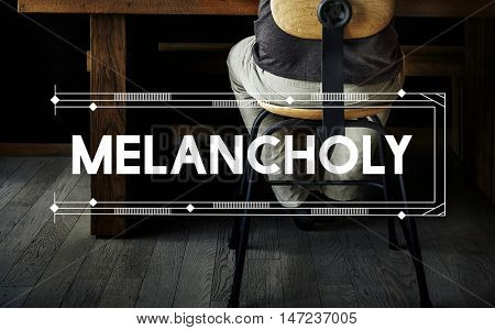 Melancholy Relax Work Space Word Concept