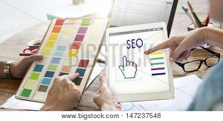 Seo Links Webinar Hand Cyberspace Concept