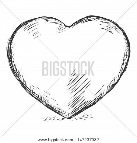 Vector Sketch Illustration - Heart
