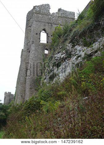 Pembroke castle photographed at Pembroke in Pembrokeshire