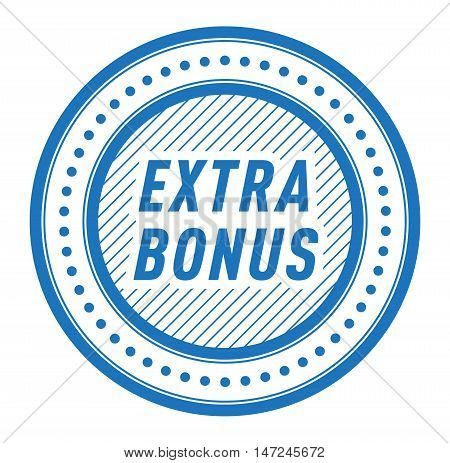 Super and extra bonus banner text in color drawn label, business shopping concept vector. Internet promotion shopping extra bonus label button. Extra bonus label button advertising discount marketing.