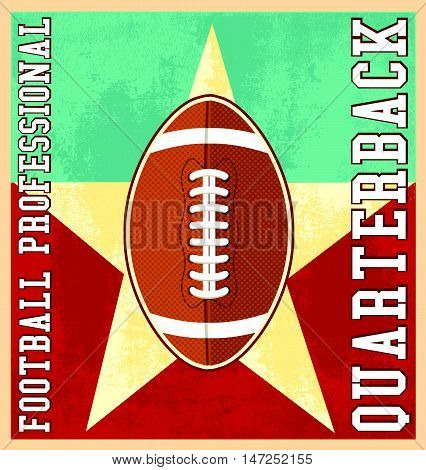 football sport vector for T-shirt printed and poster