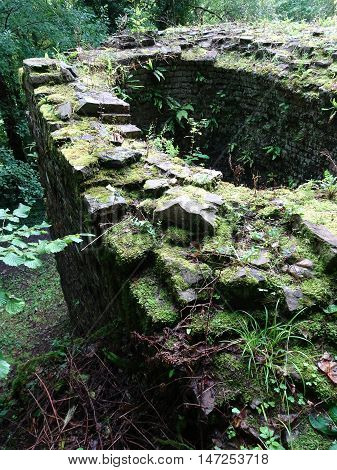 Ironworks ruin photographed at Stepaside in Pembrokeshire