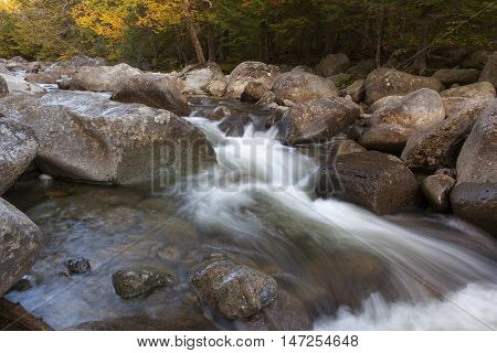 Water running through rocks at the AuSable River