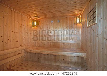 Sauna Room In Luxury Home