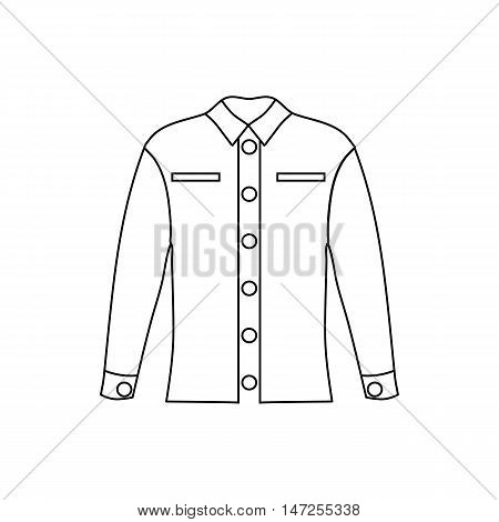 Woman blouse icon in outline style isolated on white background vector illustration