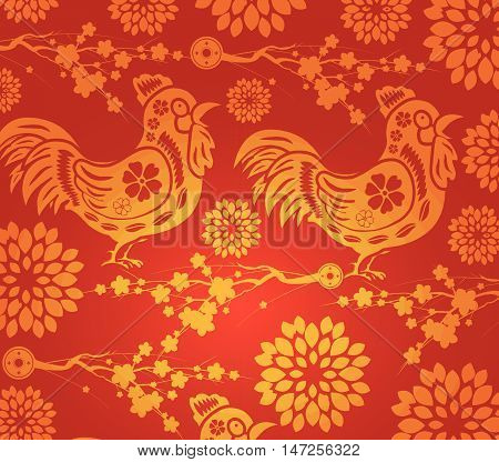 Chinese new year blossom pattern background for design